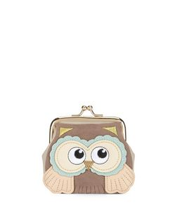 Mink Owl Clip Frame Coin Purse  | New Look