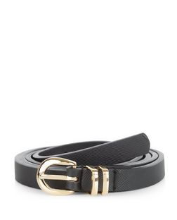 Black Double Keeper Belt | New Look