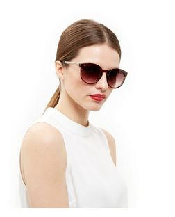 Brown Tortoiseshell Metal Bar Sunglasses  | New Look