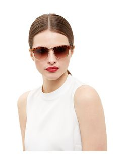 Brown Tortoiseshell Half Rim Sunglasses | New Look