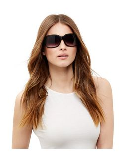 Black Rectangle Sunglasses | New Look