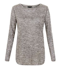 Black Fine Knit Long Sleeve Top  | New Look