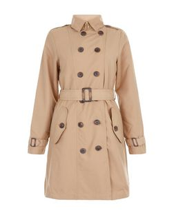 Brave Soul Camel Belted Trench Coat | New Look