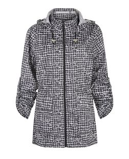 Brave Soul Black Check Trench Coat | New Look