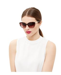 Brown Cat Eye Tortoiseshell Frame Sunglasses | New Look