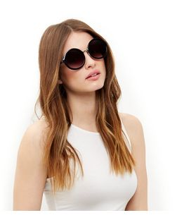 Black Round Sunglasses  | New Look