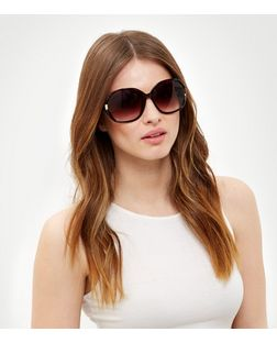 Brown Tortoiseshell Print Rectangle Sunglasses | New Look