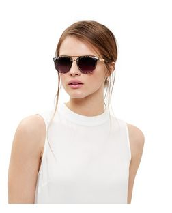 Grey Animal Print Contrast Sunglasses | New Look