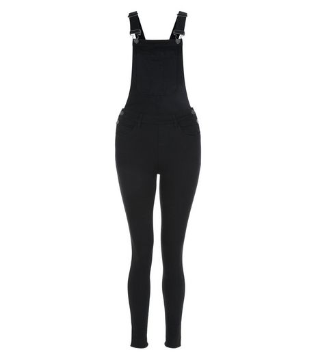 Teens Black Button Side Dungarees | New Look