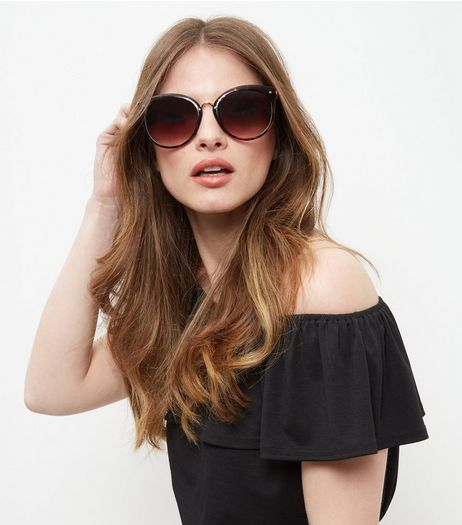Brown Cat Eye Sunglasses | New Look