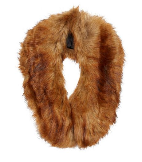 Brown Faux Fur Collar | New Look