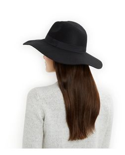 Black Wool Oversized Fedora | New Look