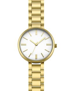 Gold Contrast Face Sports Watch  | New Look