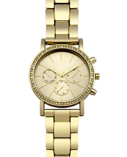 Gold Diamante Sports Watch  | New Look