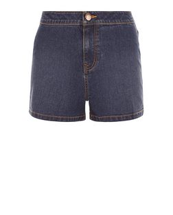 Teens Navy High Waisted Denim Shorts | New Look