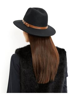 Black Structured Wool Fedora | New Look