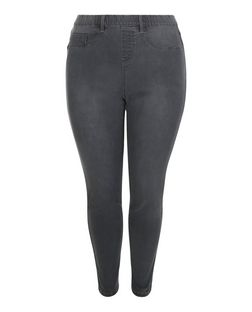 Plus Size Dark Grey Jeggings | New Look