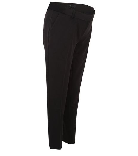 Maternity Black Under Bump Pleat Front Trousers | New Look