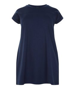 Plus Size Navy Tunic Dress | New Look