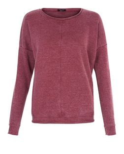 Teens Burgundy Acid Wash Sweatshirt | New Look