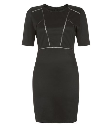 Love & Lies Black Cut Out 1/2 Sleeve Bodycon Dress | New Look