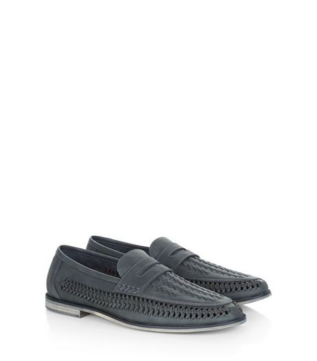 Dark Grey Woven Loafers | New Look