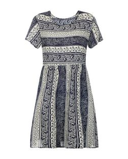 Brave Soul Navy Stripe Print Smock Dress | New Look