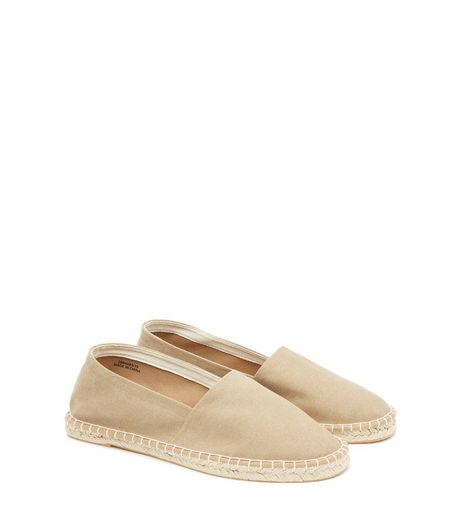 Stone Canvas Espadrilles | New Look