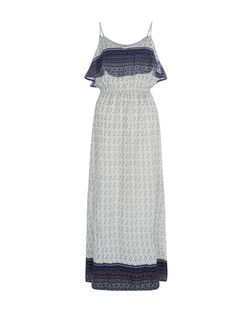 Brave Soul Blue Tile Print Maxi Dress | New Look