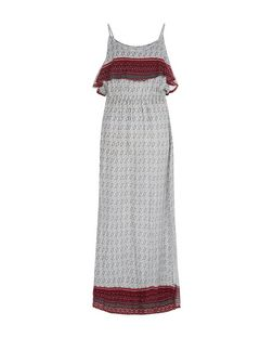 Brave Soul Red Tile Print Layered Maxi Dress | New Look