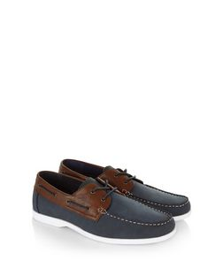 Navy Boat Shoes  | New Look