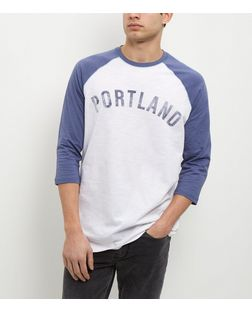 Cream Portland Raglan Long Sleeve Top  | New Look