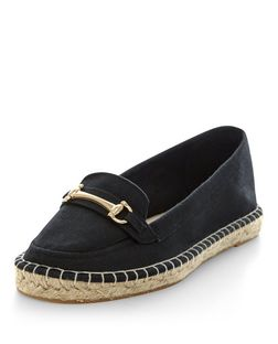 Black Espadrille Loafers  | New Look