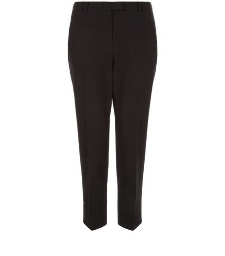 Blacked Cropped Slim Leg Trousers  | New Look