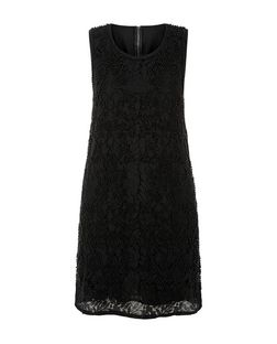 Mela Black Floral Print Beaded Dress | New Look