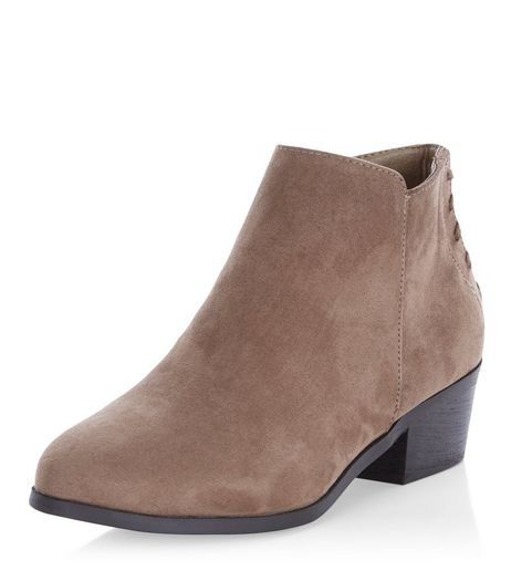 Wide Fit Brown Suedette Tassel Ankle Boots | New Look