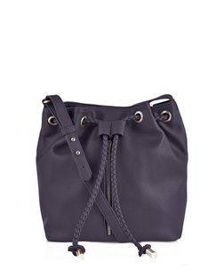 Black Zip Front Duffle Bag  | New Look