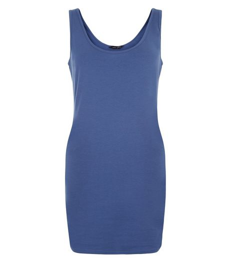 Navy Longline Vest  | New Look