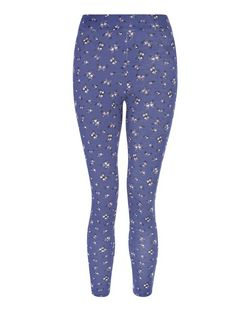 Girls Blue Butterfly Print Leggings | New Look