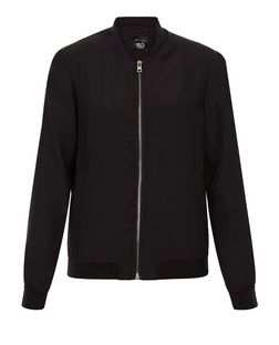 Teens Black Lightweight Bomber Jacket | New Look