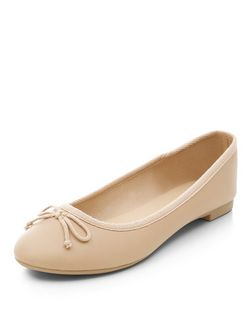 Stone Faux Leather Ballet Pumps | New Look