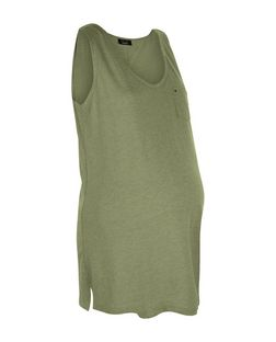 Maternity Olive Green Pocket Swing Vest | New Look