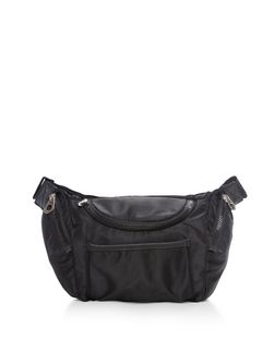 Black Oversized Bumbag  | New Look