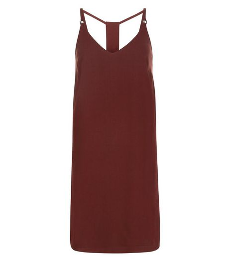 Burgundy Cami Slip Dress | New Look