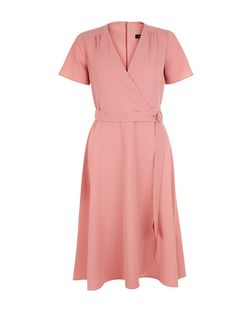 Pink D-Ring Wrap Midi Dress | New Look