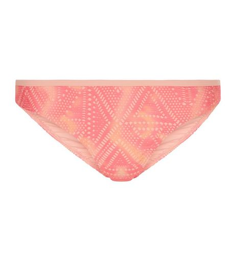 Pink Tie Dye Crochet Bikini Bottoms | New Look