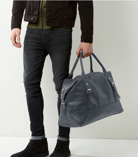 Black Leather-Look Holdall Bag | New Look
