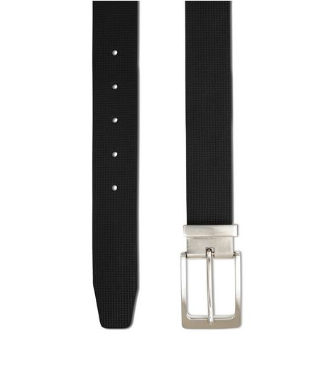 Black Perforated Belt  | New Look