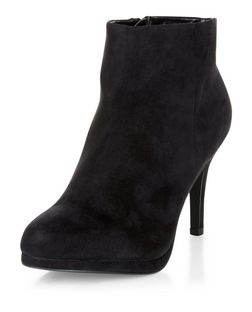 Black Heeled Ankle Boots | New Look