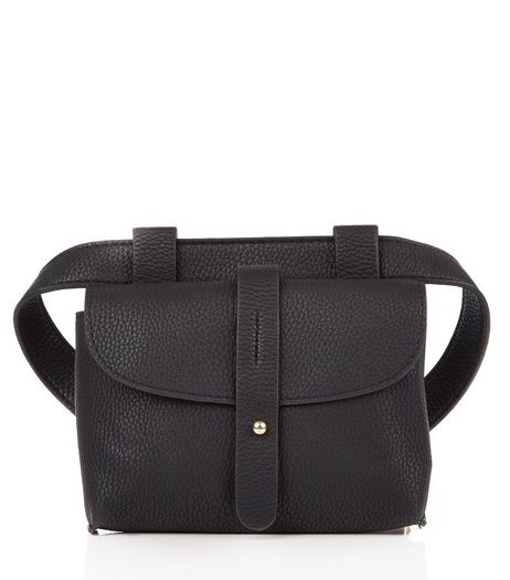 Black Tab Strap Purse Belt  | New Look